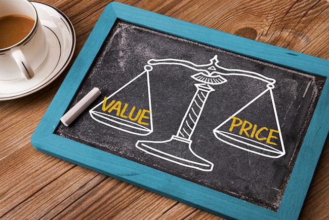 La diferencia entre precio y valor